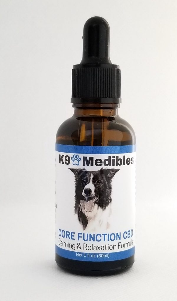 K9 Medibles Core Function CBD Oil for Dogs who exhibit anxious behaviors